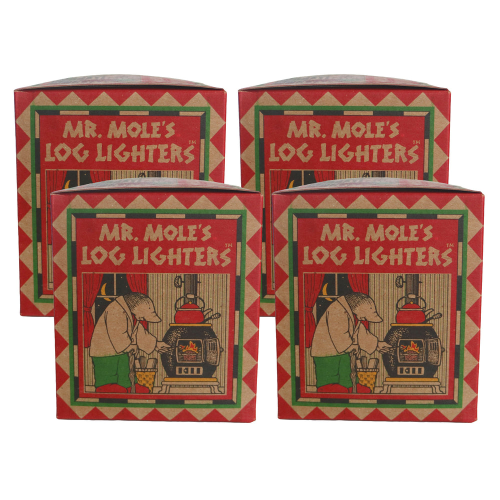 Log Lighters, Set of 4