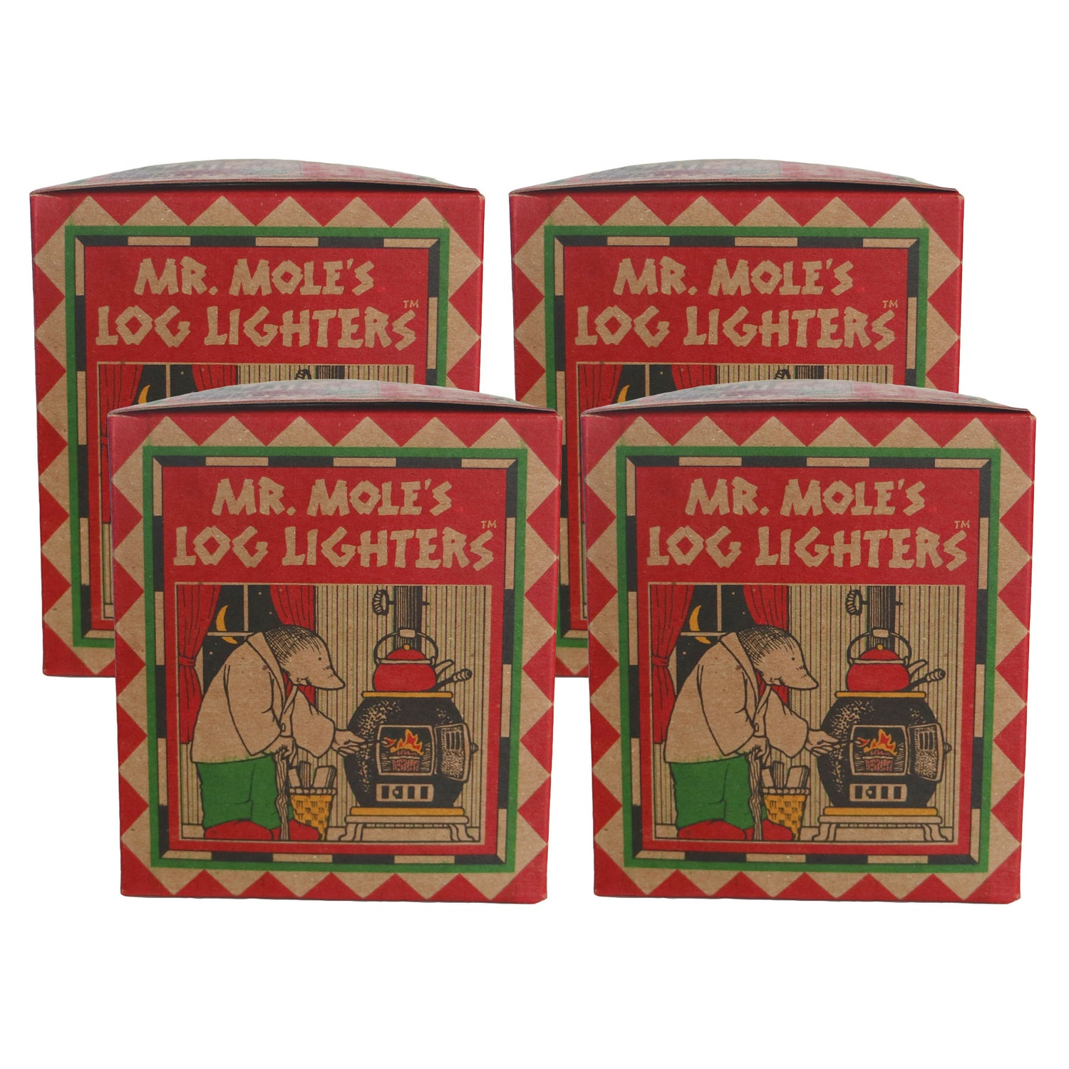 Mr. Mole's Log Lighters - Fire Starters - Mole Hollow Candles