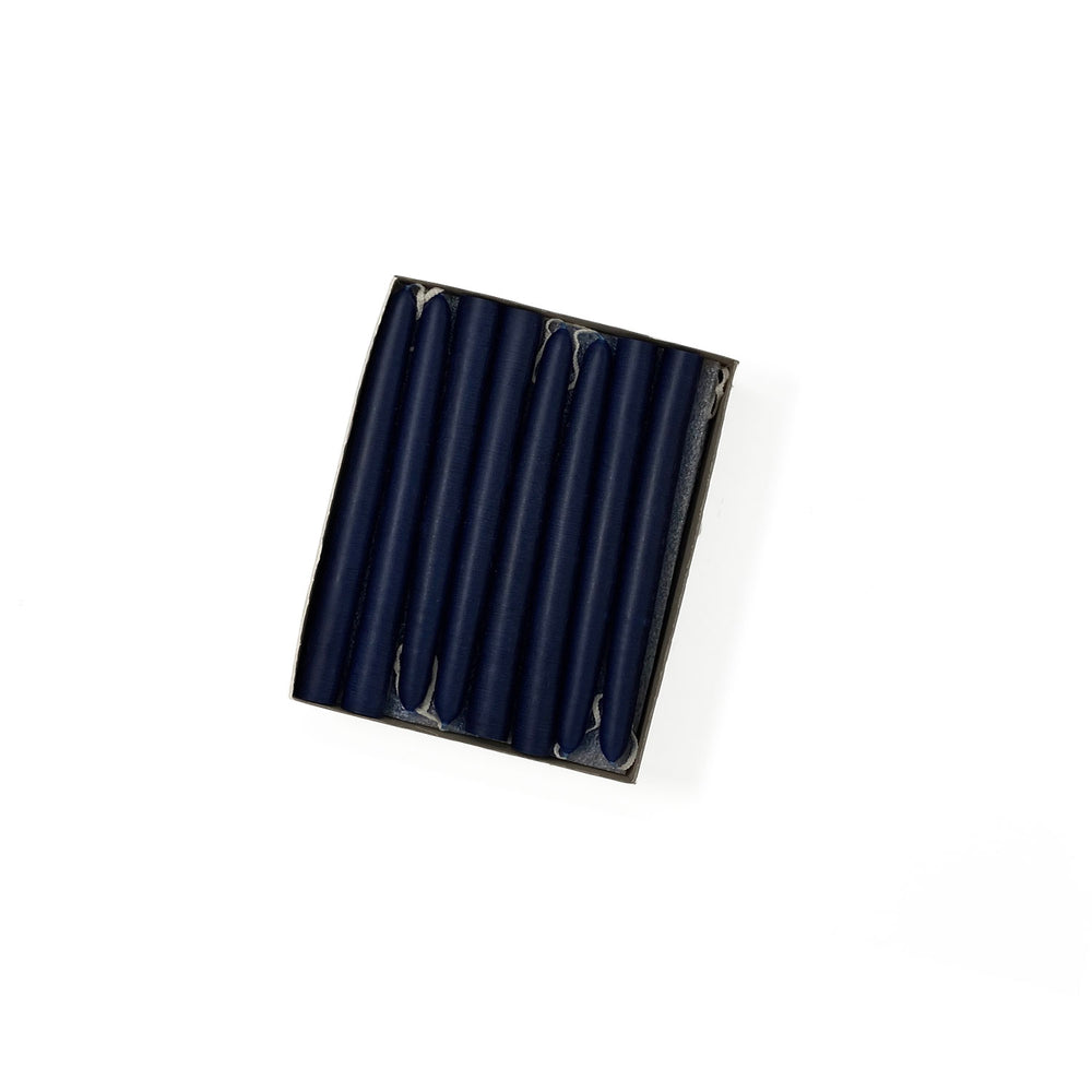 "4.5"" Navy Blue Tiny Taper Candles - Mole Hollow Candles"
