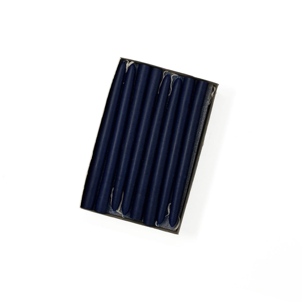 "6"" Navy Blue Tiny Taper Candles - Mole Hollow Candles"