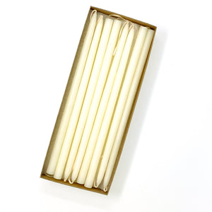 "10"" Off White Tiny Taper Candles - Mole Hollow Candles"