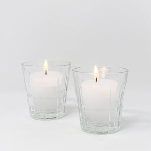 Old Fashioned Glass Votive Holders, Set of 2