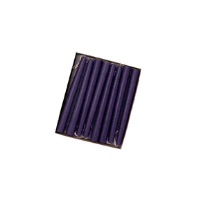 "4.5"" Plum Purple Tiny Taper Candles - Mole Hollow Candles"
