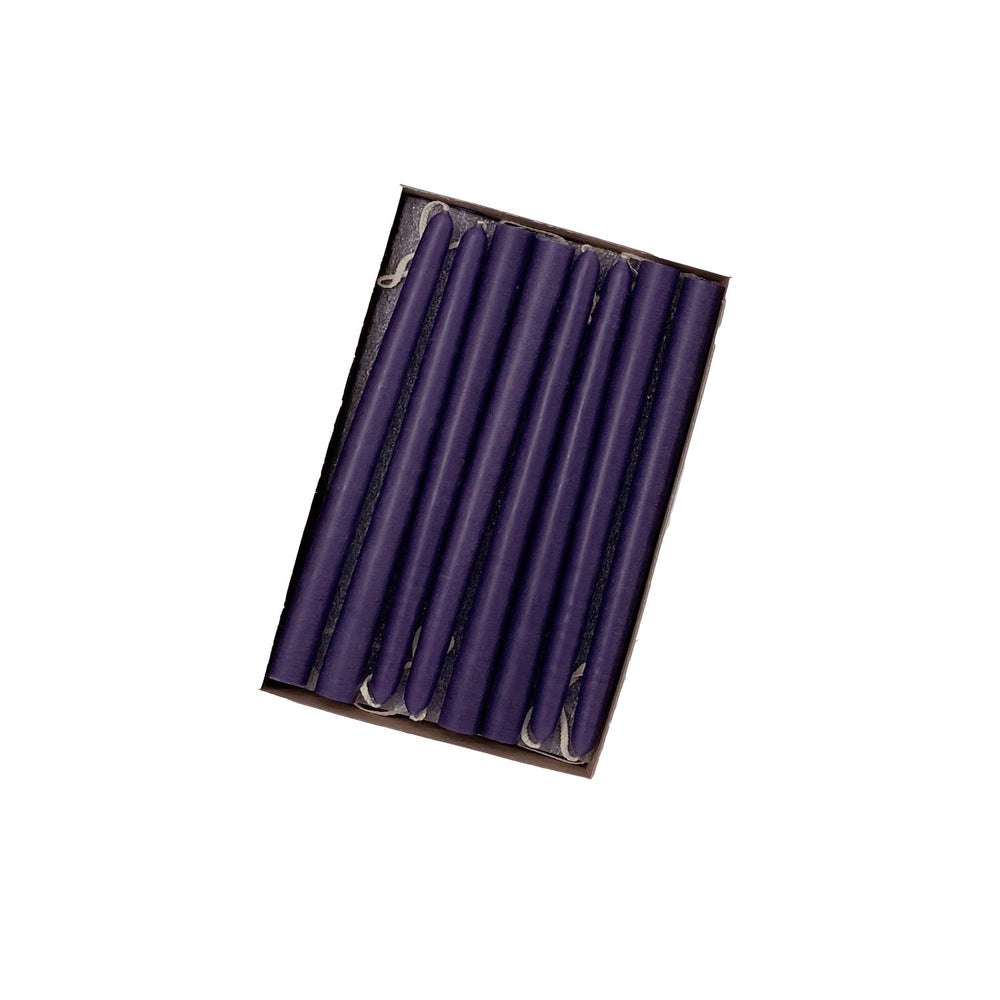 "6"" Plum Purple Tiny Taper Candles - Mole Hollow Candles"