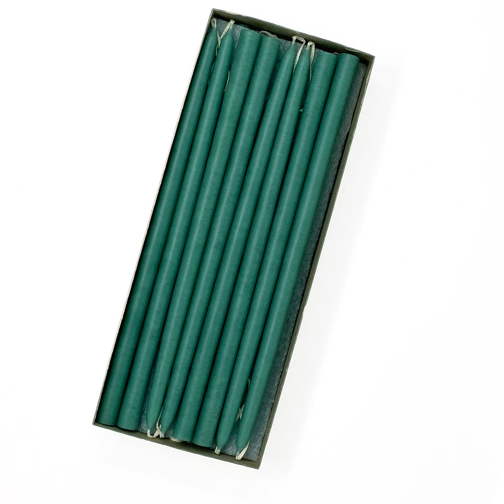 "10"" Sea Green Tiny Taper Candles - Mole Hollow Candles"
