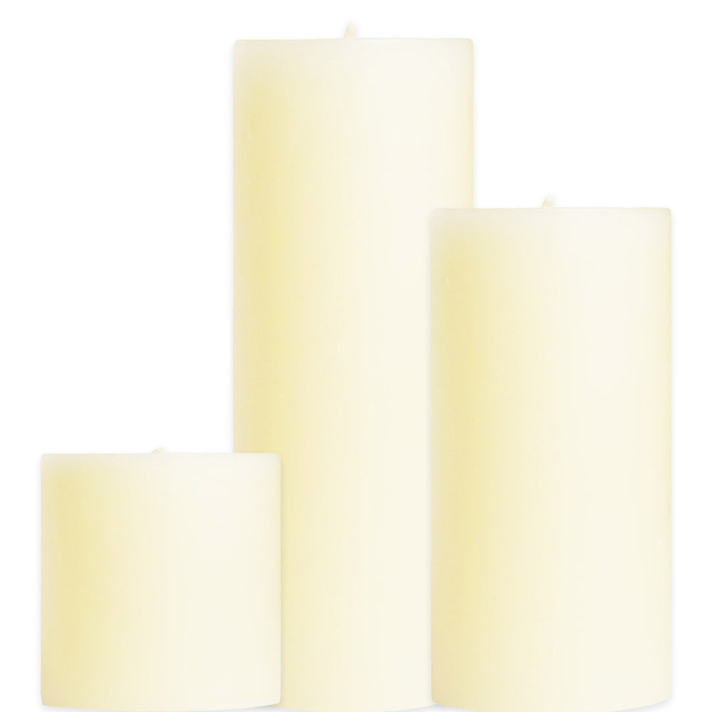 Unscented Pillar Candle Bundle