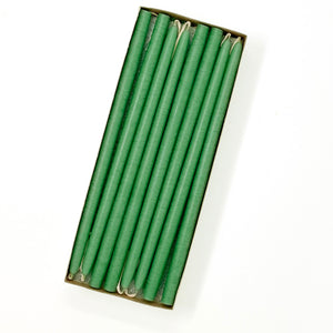 "10"" Spearmint Green Tiny Taper Candles - Mole Hollow Candles"