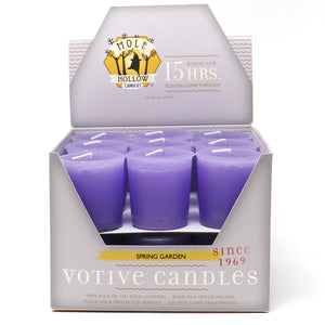 Spring Garden Scented Votive Candle - Purple Votive - Mole Hollow Candles