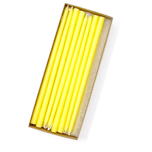 "10"" Sun Yellow Tiny Taper Candles - Mole Hollow Candles"
