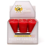 Sweetheart Red Beeswax Votive Candles, 18 Votives