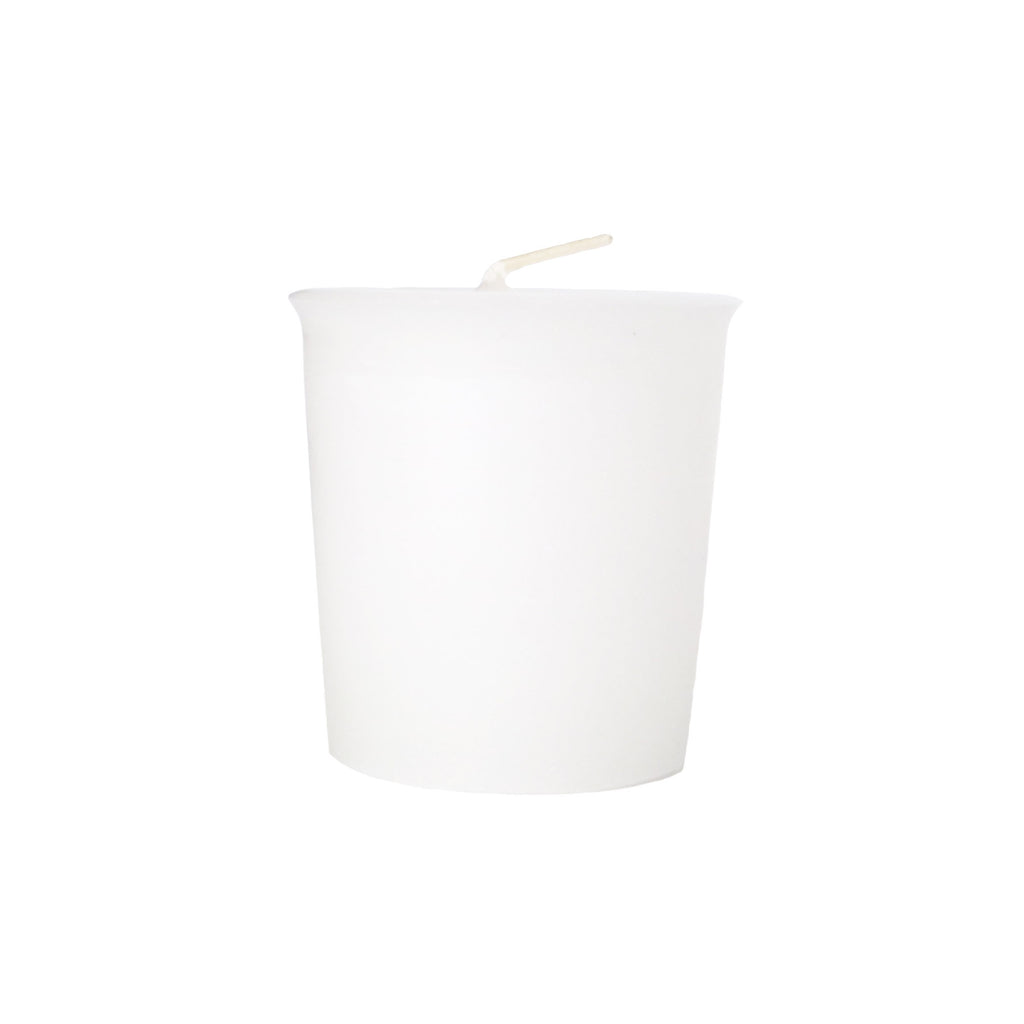 Unscented White Votive Candle - Votive Candles Unscented - Mole Hollow Candles
