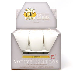 White Unscented Votive - Unscented Candles - Mole Hollow Candles