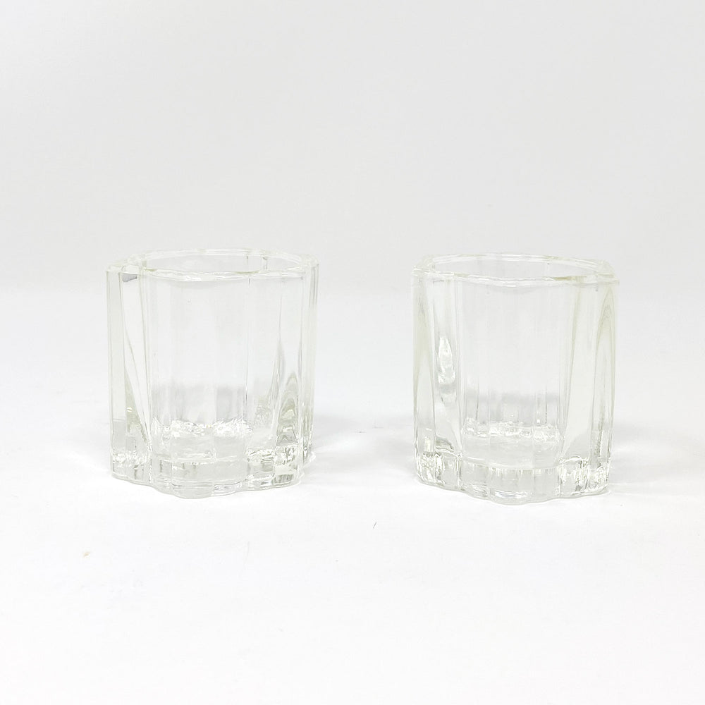 Load image into Gallery viewer, Six-Sided Glass Votive Holders, Set of 2