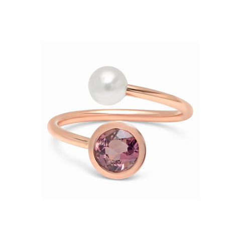 Akoya Pearl Wire Wrap Ring