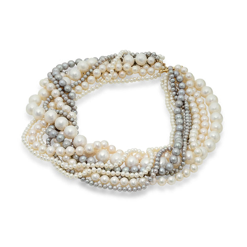 Multistrand Freshwater Pearl Necklace - VictoriaSix.com