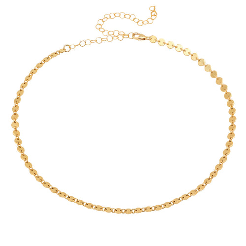 Disc Link Choker Necklace - VictoriaSix.com