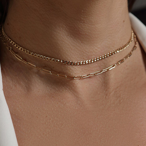 Classic Chain Choker Necklace - VictoriaSix.com