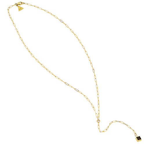 Topaz Drop Lariat Necklace - VictoriaSix.com