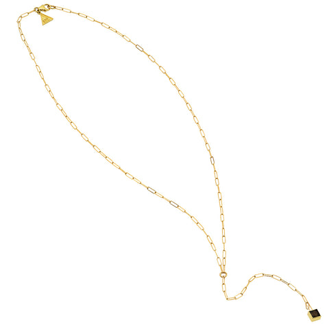 Baroque Lariat Drop necklace