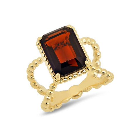 Garnet Marquise Shape Cocktail Ring