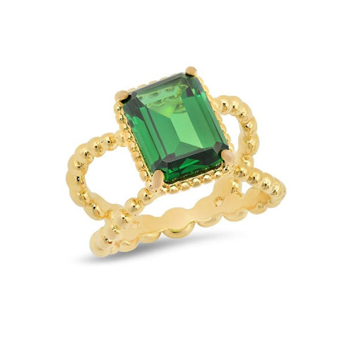 Petite Emerald Cocktail Ring - VictoriaSix.com