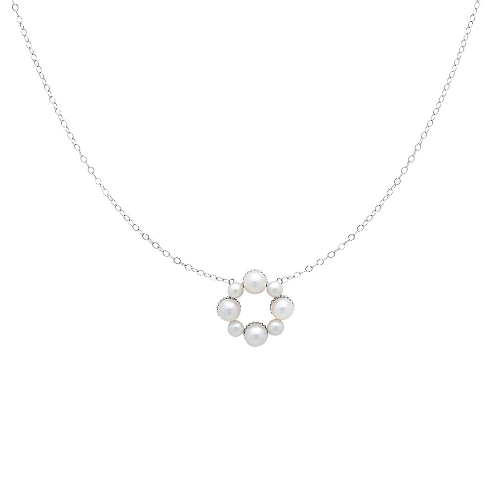Pearl Flower Pendant Necklace - VictoriaSix.com