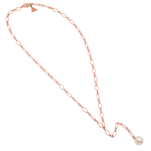 Flirty Single Pearl Lariat Necklace - VictoriaSix.com