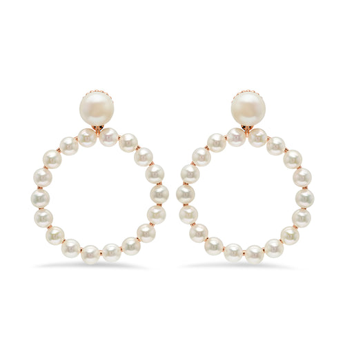 Akoya Pearl Hoop Earrings - VictoriaSix.com