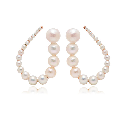 Akoya Pearl Hoop Earrings