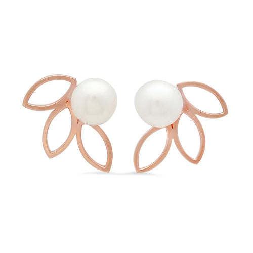 Flower Petal Pearl Earrings - VictoriaSix.com