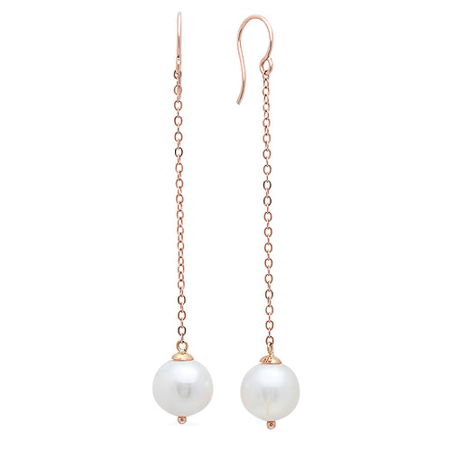 Freshwater Pearl Drop Earrings - VictoriaSix.com
