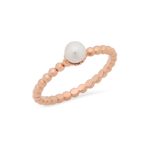 Small Pearl Stackable Ring - VictoriaSix.com