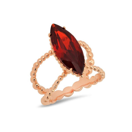 Garnet Marquise Shape Cocktail Ring - VictoriaSix.com