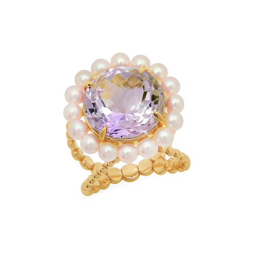 Amethyst Cocktail Ring - VictoriaSix.com