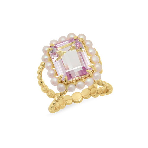 Pink Kunzite Cocktail Ring - VictoriaSix.com