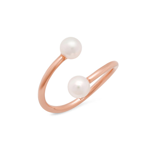 Akoya Pearl Uneven Cuff Ring - VictoriaSix.com
