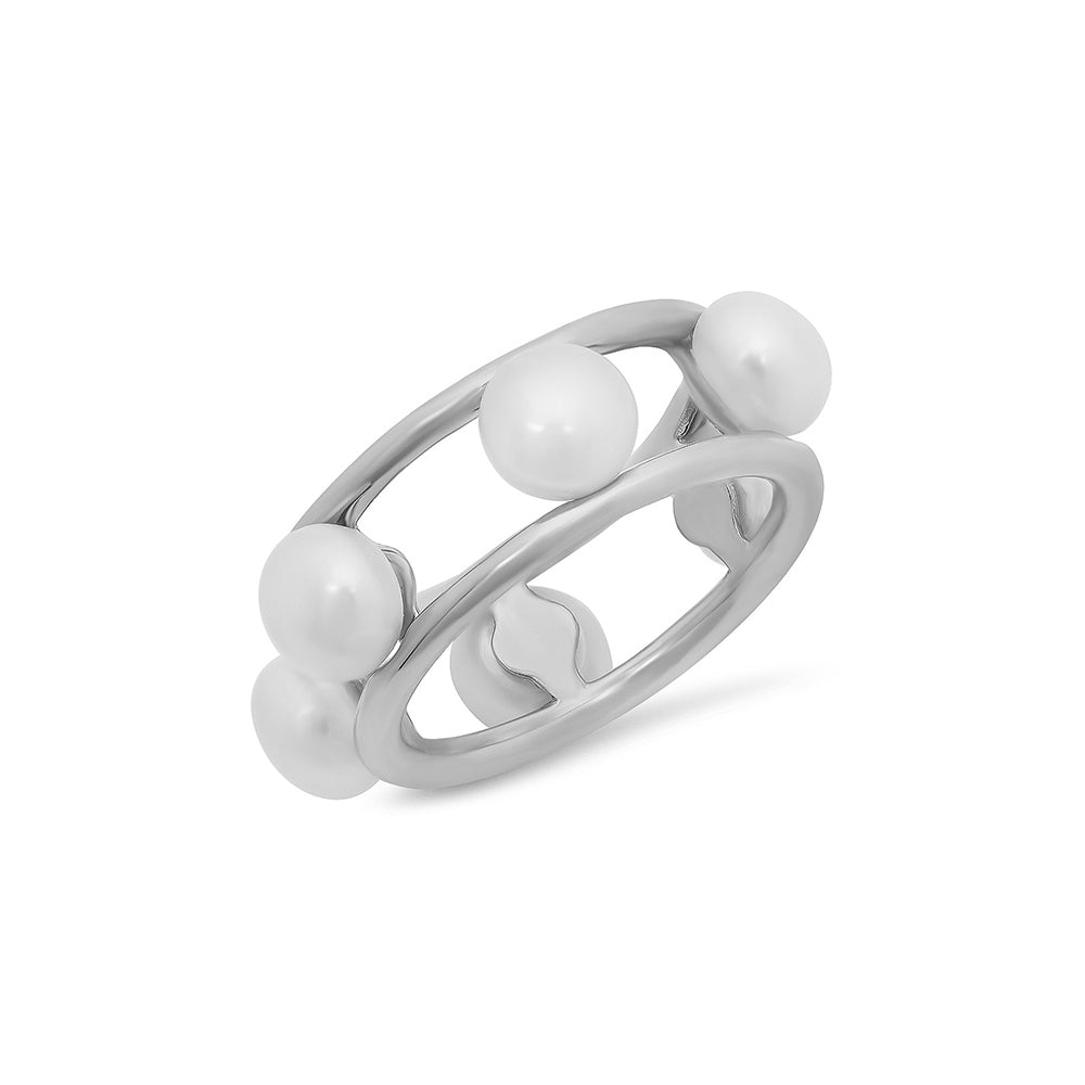 White Freshwater Pearl Ring - VictoriaSix.com