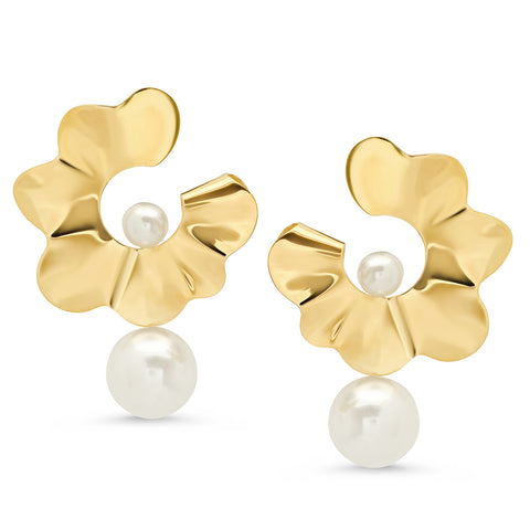 Threader Pearl Earrings