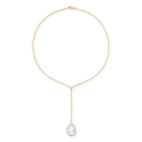Single Pearl Square Hoop