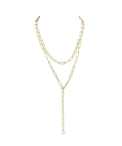 Long lariat necklace