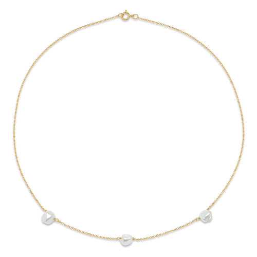 Triple Tiny Baroque Pearl necklace