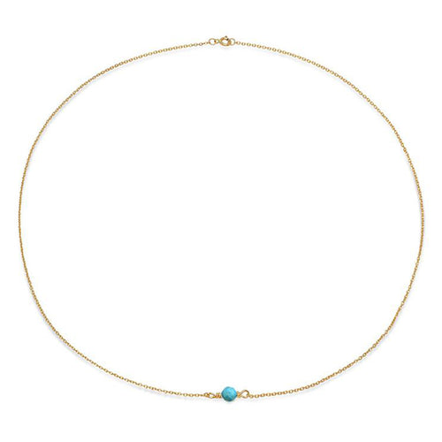Tiny Gem Turquoise Necklace - VictoriaSix.com