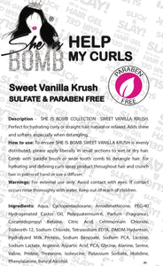 SWEET VANILLA KRUSH /HELP MY CURLS SALE