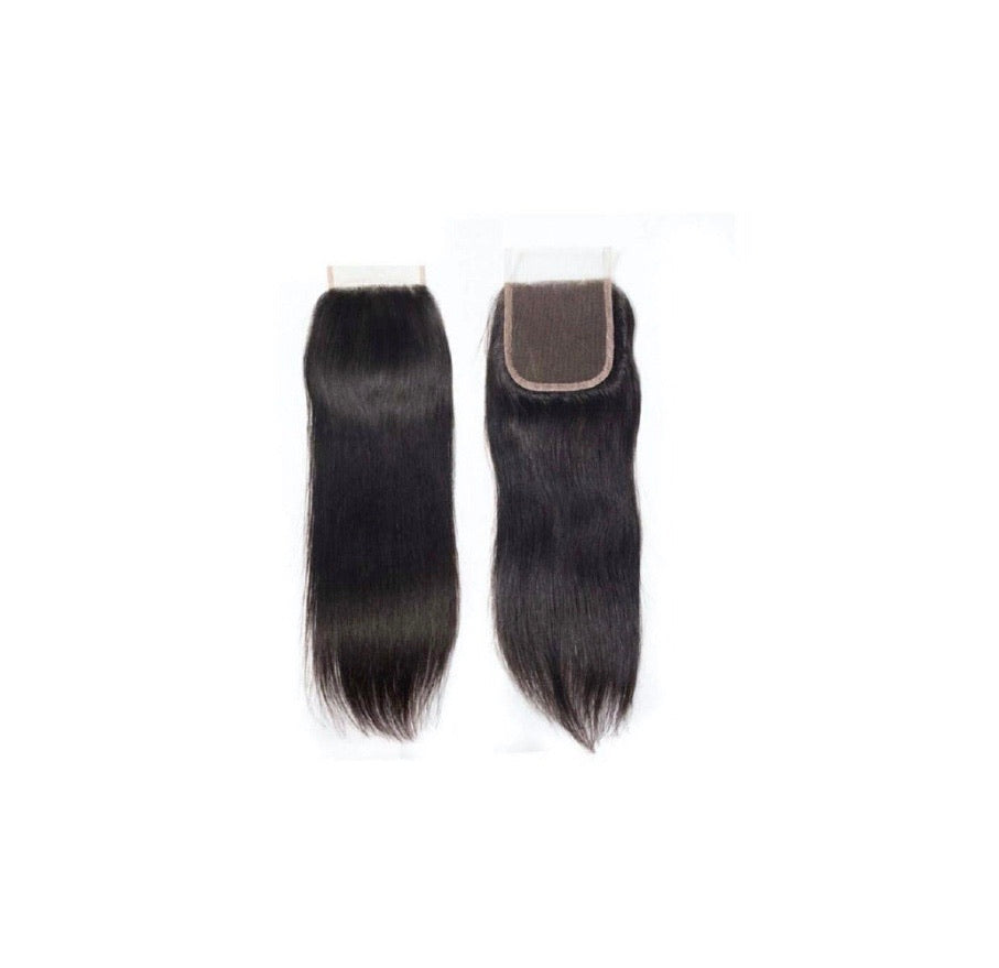CLOSURES STRAIGHT HAIR 4X4  BUNDLES/HAIR