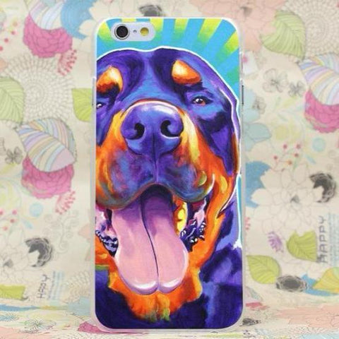 Colorful Happy Rottweiler Phone Case