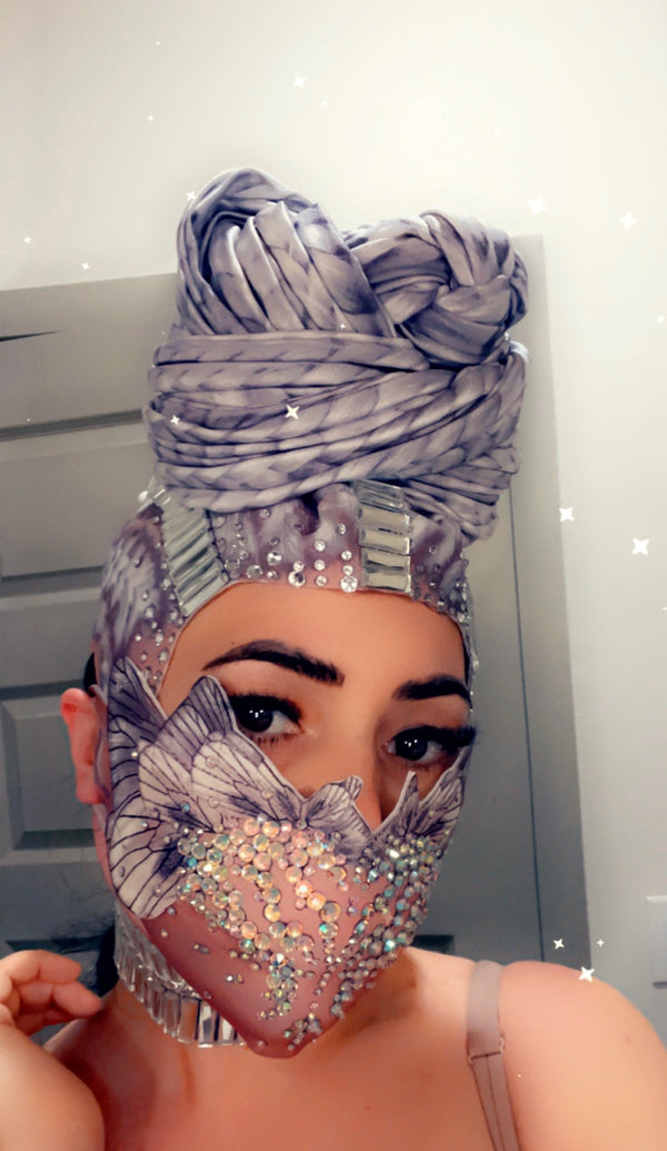 Head wrap ( face mask sold separate )