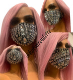 Diamond  face cover mask- ships the same business day