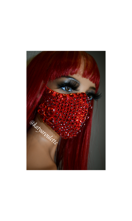 RED face cover mask- Ready to ship, ships the same business day