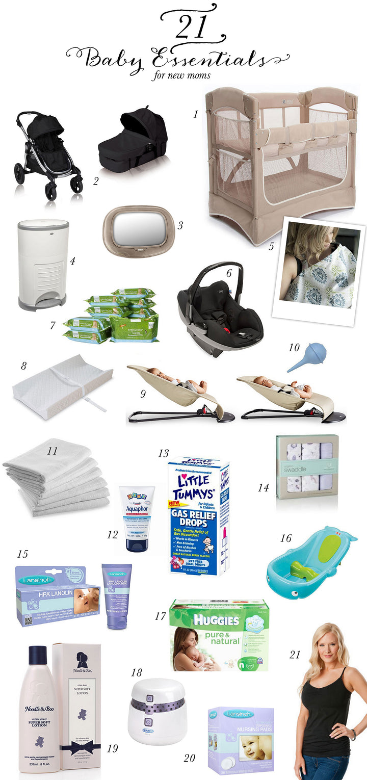 21 Must Have Baby Essentials for New Moms