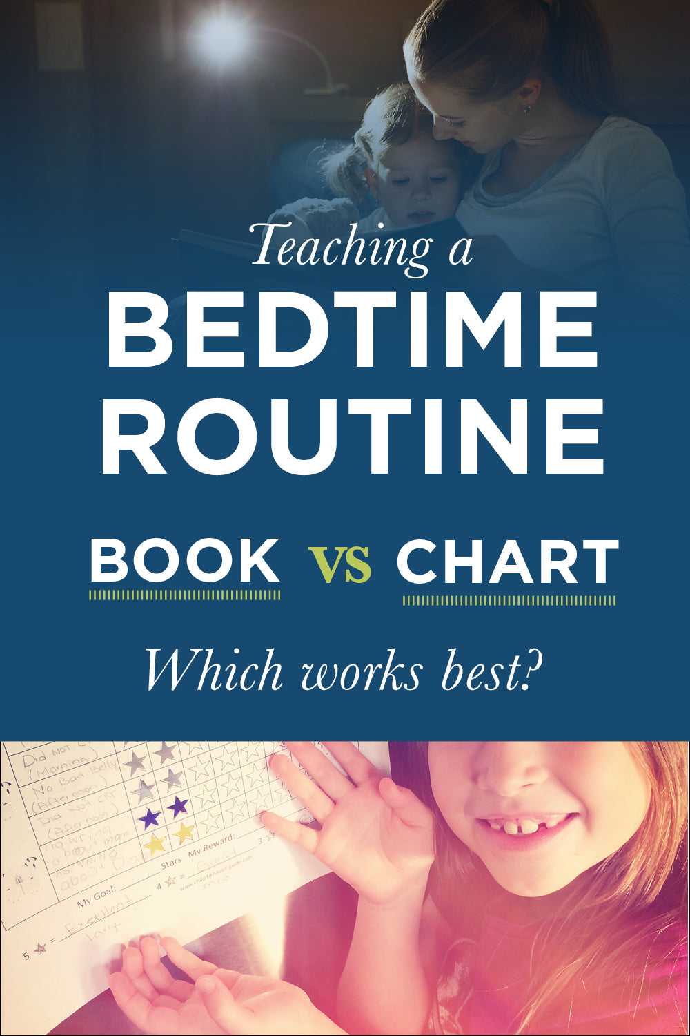 bedtime books are more effective than bedtime routine charts for toddlers